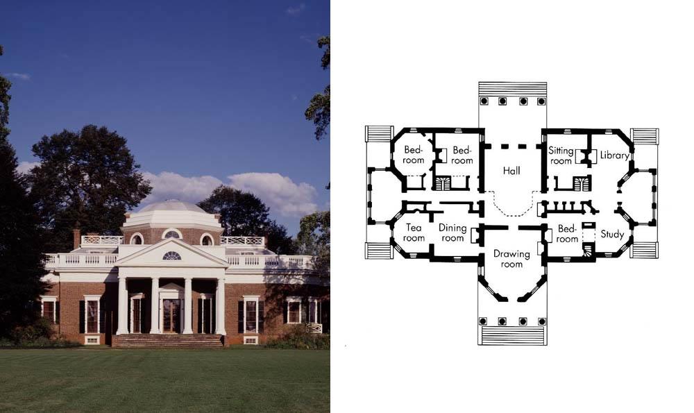 Jeffersons Monticello Floor Plan images