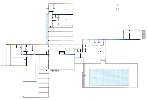 History of Art Architecture and Sculpture – Richard Neutra Kaufmann House Floor Plans