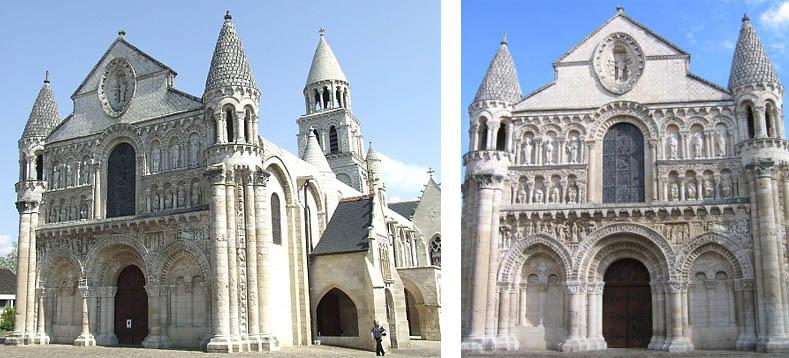 Notre Dame La Grande Poitiers Early 12th Century 406 West Facade