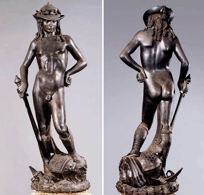 a comparison of two statues of david by vercchio and donatello The three davids, the statues by  the three davids donatello,  commission and he worked on the statue for over two years this david does not include.