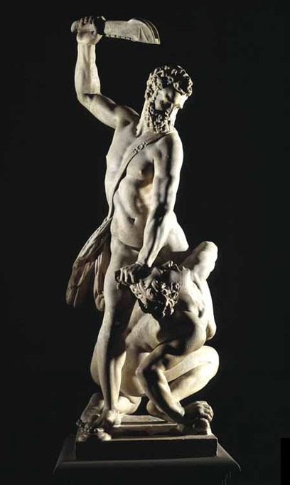 Hercules and the Centaur 1600. Marble, height 269 cm