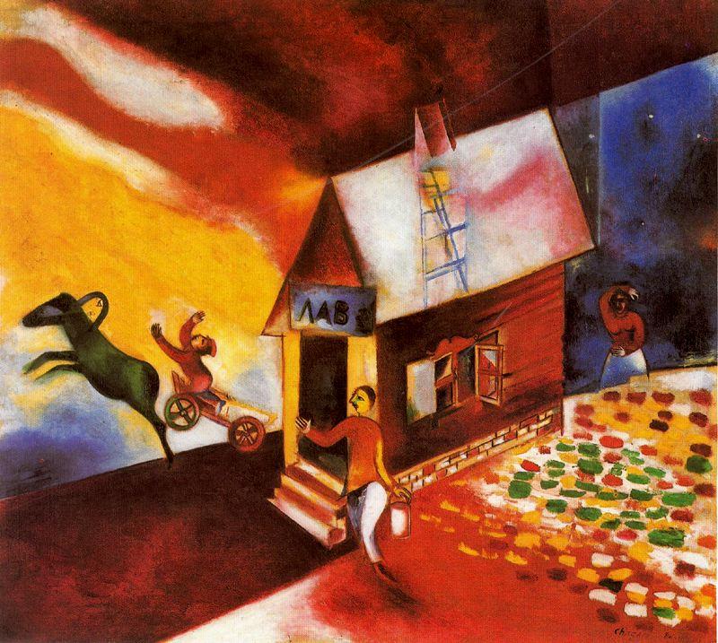 History of art marc chagall for Marc chagall paris vu de ma fenetre