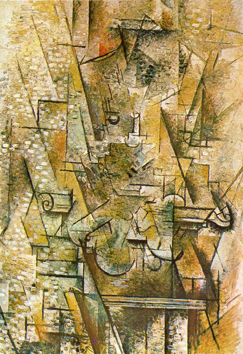 What is the key element of art for the portuguese painting by george braque
