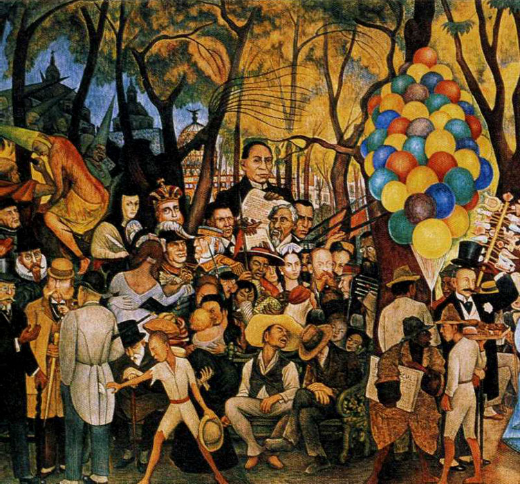 History of art diego rivera for Diego riveras mural