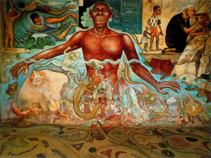 History of art diego rivera for Diego rivera creation mural