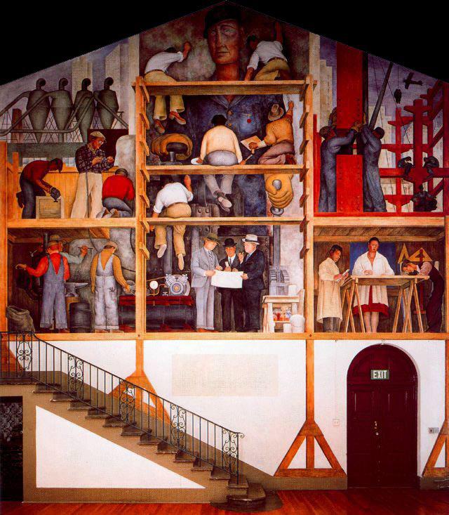 National Arts Club Dining Room: History Of Art: Diego Rivera