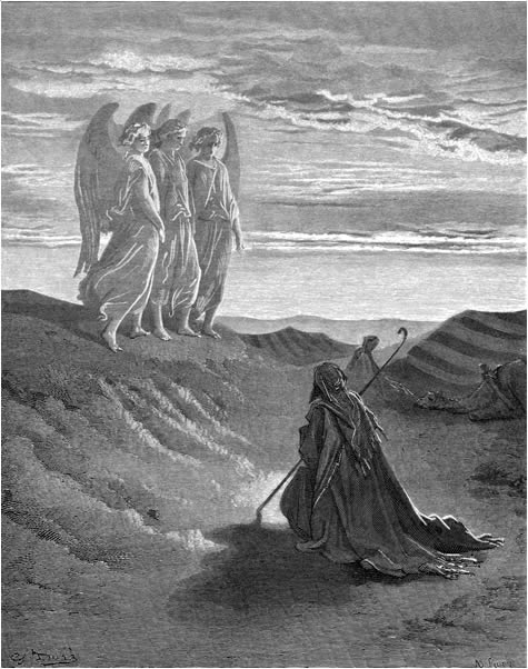 The angels promise a son to Abraham