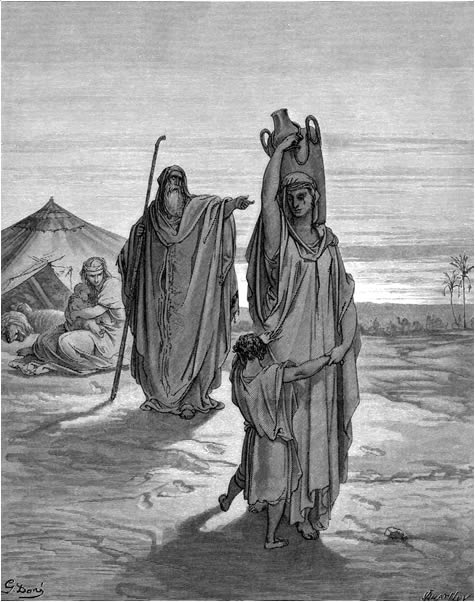 Hagar and Ishmael expelled