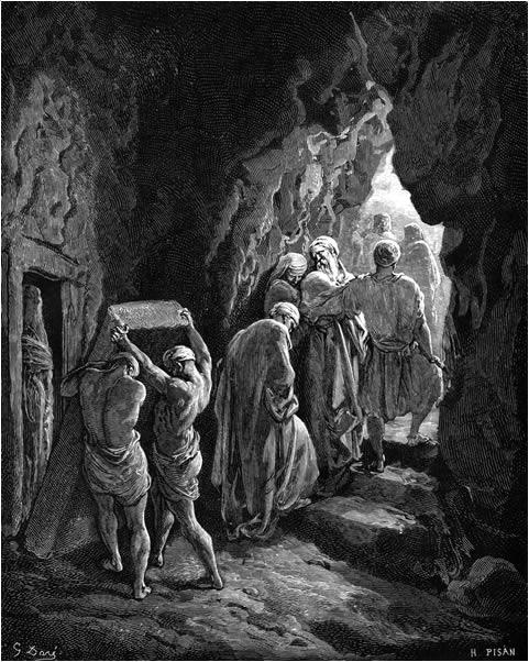 Abraham buries Sarah
