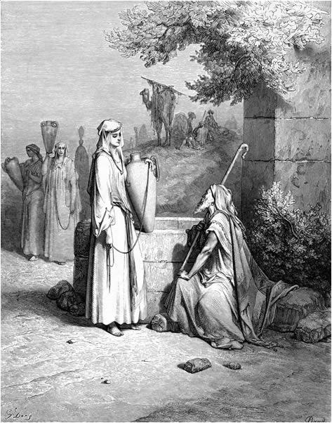 Eliezer meets Rebekah