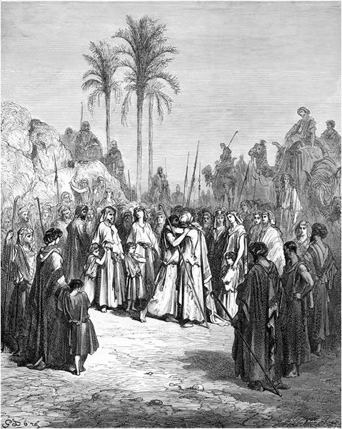 Jacob and Esau reunited