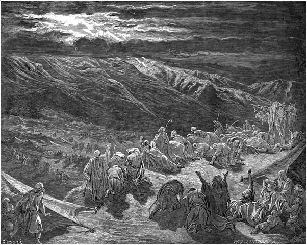 God gives the law to the Israelites
