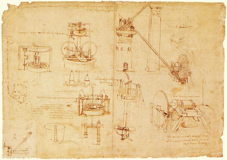 [image: Sketch by Da Vinci - Hydraulics]