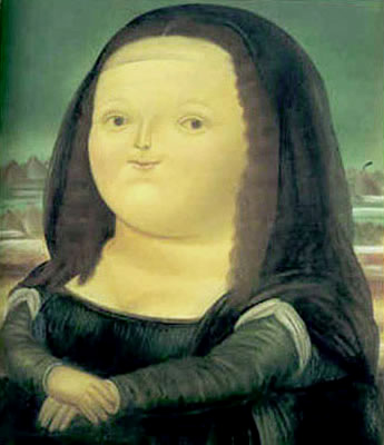 Mona Lisa, by Fernando Botero (Columbia, 1977)