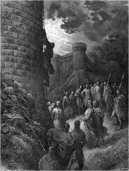 Bohemond mounts the rampart of Antioch