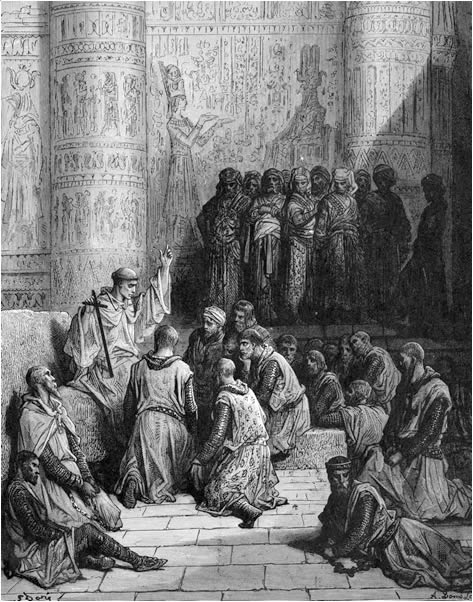 Christian cavaliers captive at Cairo
