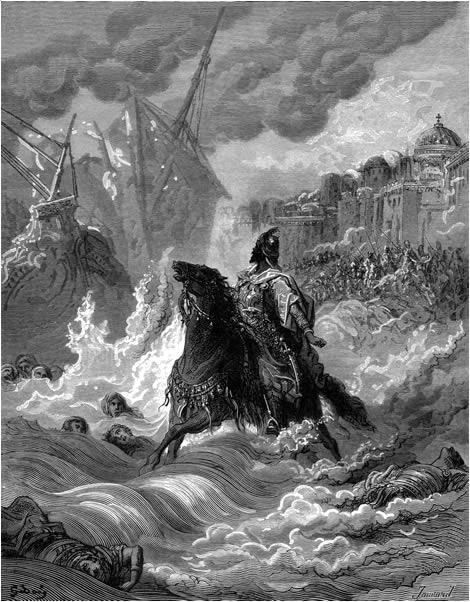 Muhammad II before Constantinople