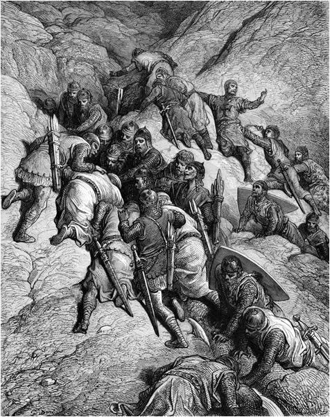 The Crusaders cross Mount Taurus