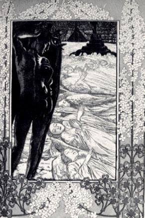 History of art carlos schwabe for Au jardin de l infante samain
