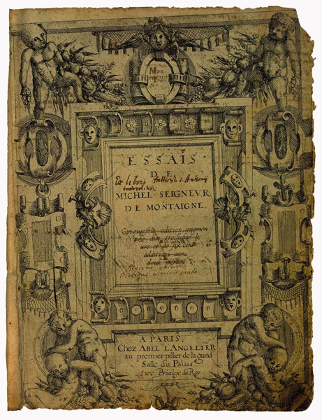 History of Art: Masterpieces of World Literature-Michel de Montaigne