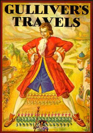 the story setting of gullivers travels Irish protestant clergyman and satirist jonathan swift publishes gulliver's travels  anonymously in 1726 the four-part novel relates ship captain lemuel.