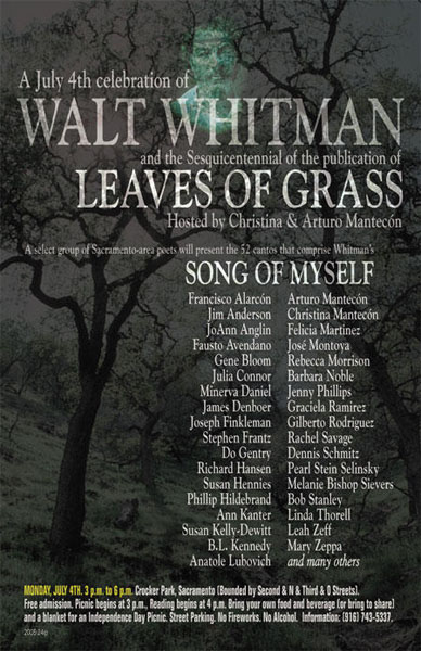 leaves of grass song of myself  song of myself is the most popular of whitman's works, which was one of the first twelve pieces in the 1855 first version of leaves of grass like a large portion of his different poems, it excessively was modified arriving at its last change in 1881.